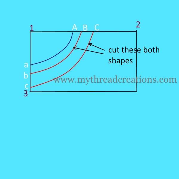 boat neck kurti cutting