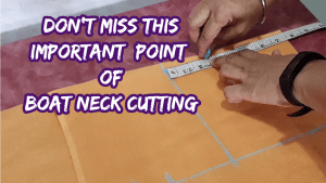 Boat Neck Design Cutting For Beginners