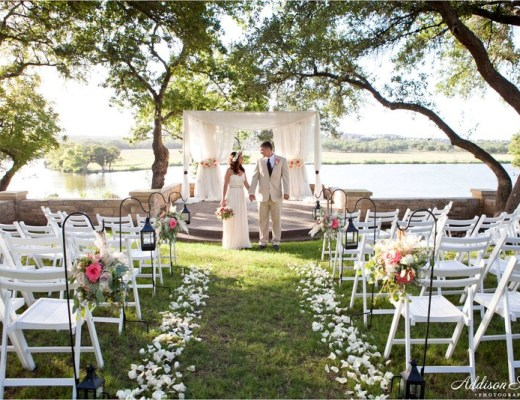 A couple getting married at a Avery Ranch Golf