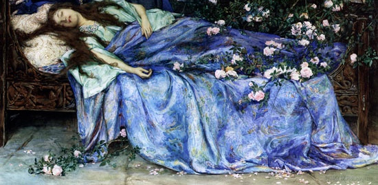 Henry_Meynell_Rheam_-_Sleeping_Beauty_Public_Domain_Image - Version 2