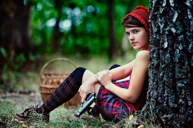 Little Red Riding Hood with a gun. Igor Balasanov.