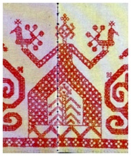 Finnic goddess embroidery_research