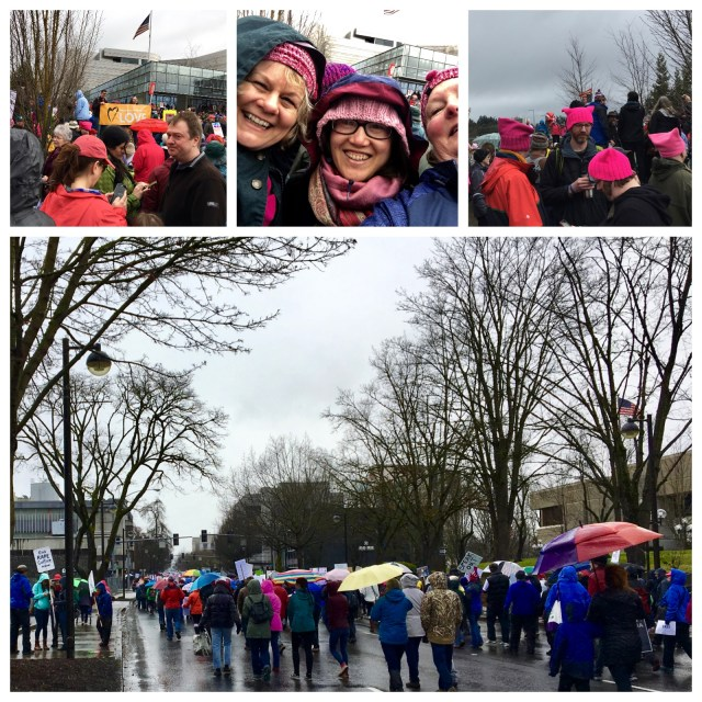 pussyhats at Eugene Women's March 2017