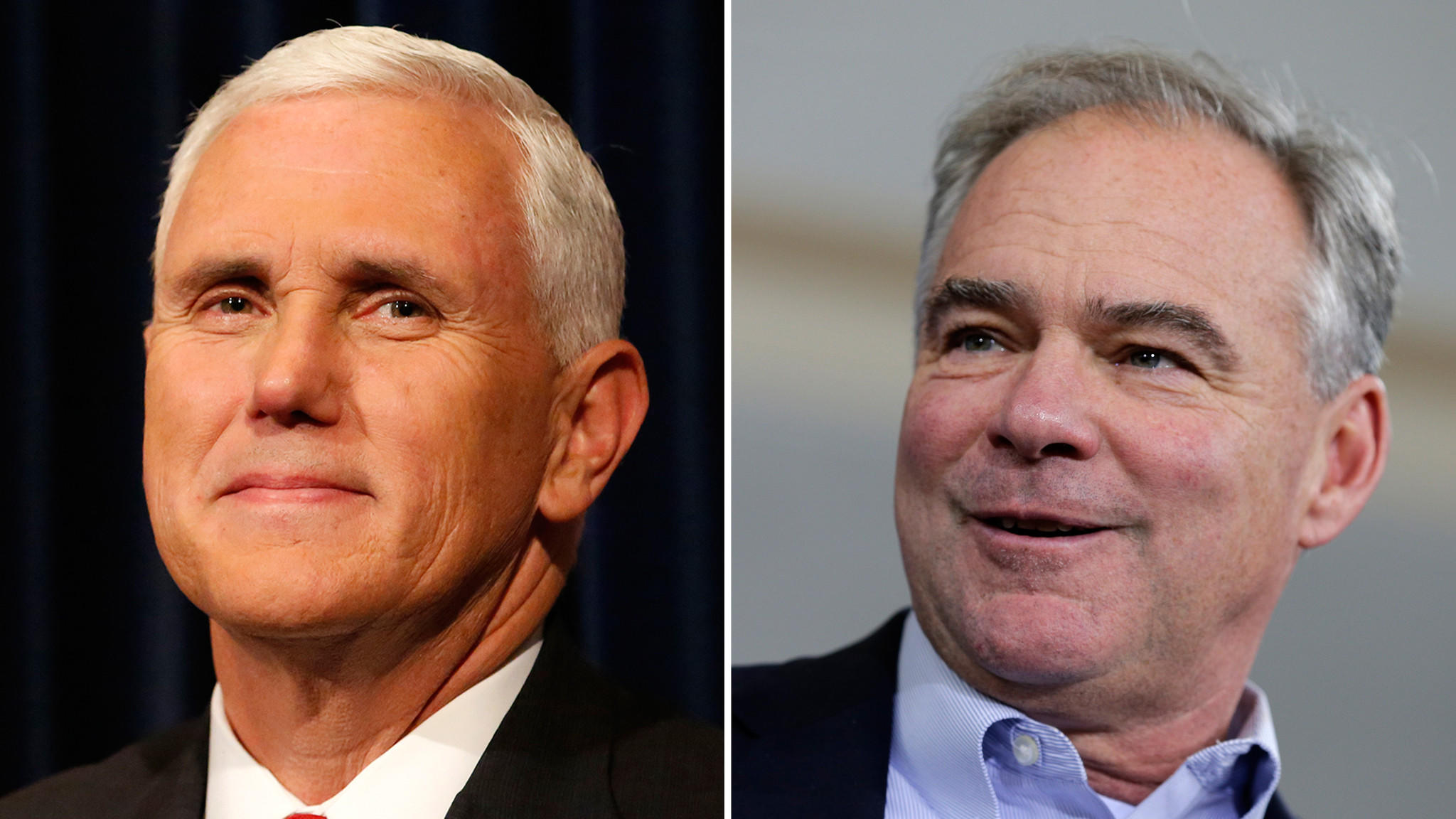 Mike Pence & Tim Kaine. Found at http://www.latimes.com/nation/politics/trailguide/la-na-vice-presidential-debate-live-vp-debate-promises-high-viewership-but-1475612724-htmlstory.html