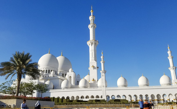 Grand Mosque parking lot at daytime