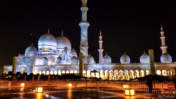 Abu Dhabi Grand Mosque parking lot