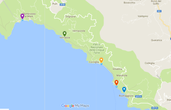Map Of North West Italy.Cinque Terre Italy All You Need To Know Before Visiting My