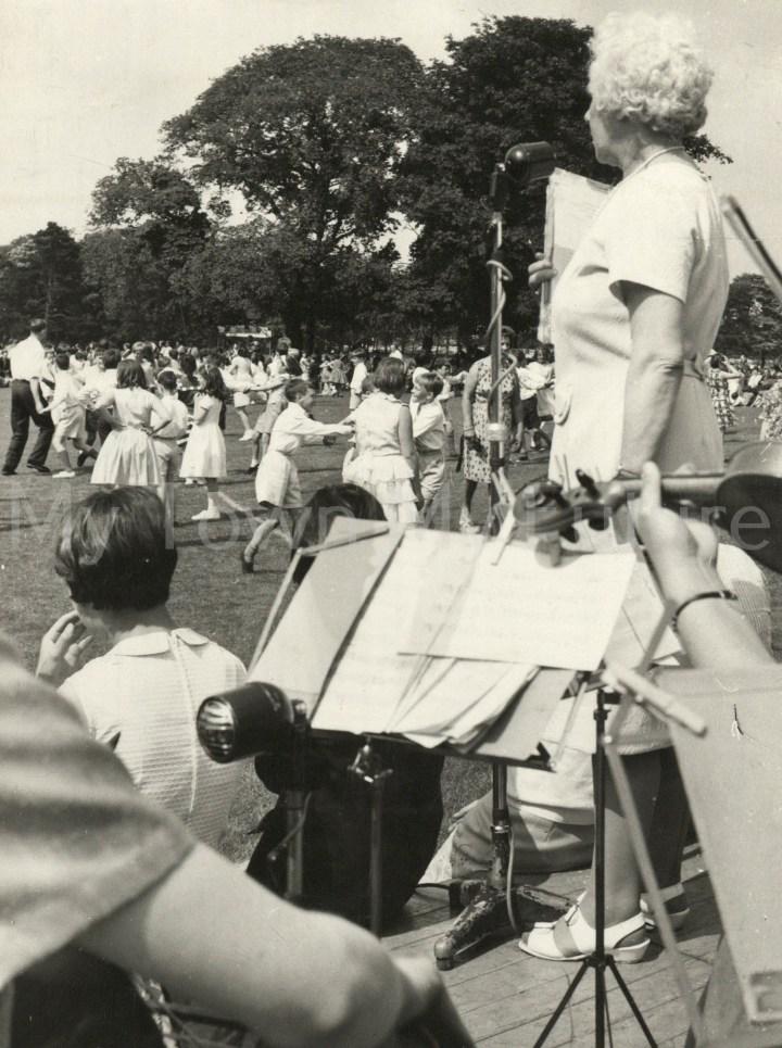 Stewart Park -School Children dancing supervised by Dorothy Davidge, 24th June 1966