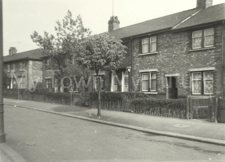 Pinewood Avenue, Grove Hill, Middlesbrough (1960). Taken from the corner of Willowfield Avenue