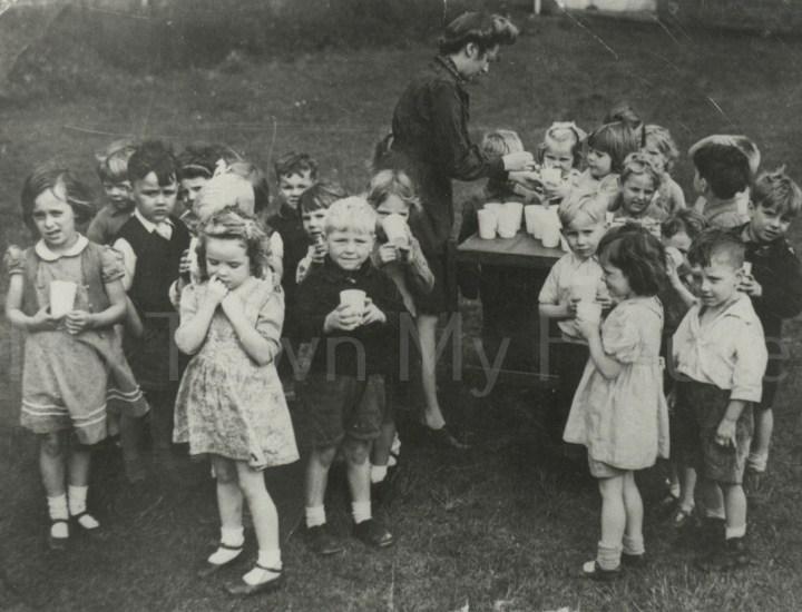 World War II Brambles Farm School Evacuees from London V Bomb September 1944