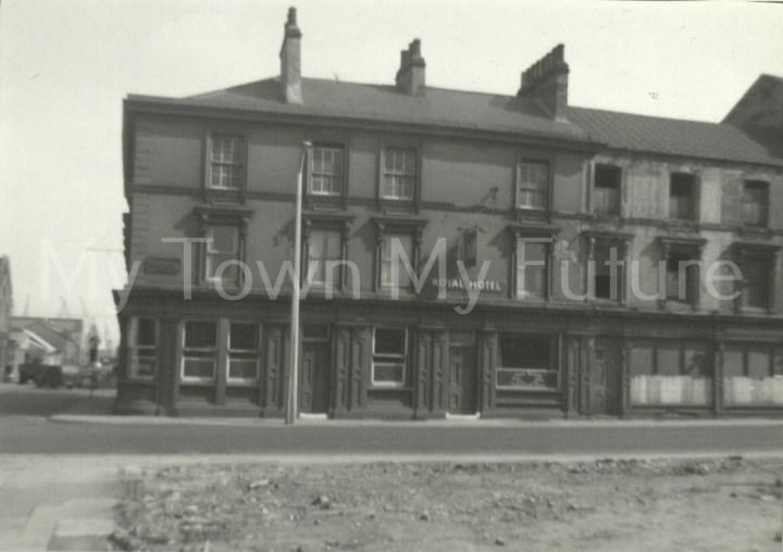 Royal Hotel Durham Street Corner of Lower Commercial Street 1959
