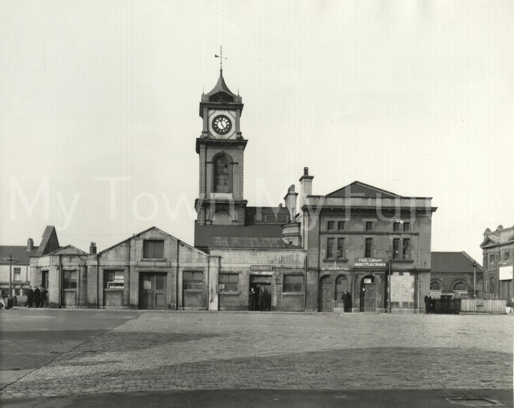 Old Town Hall - Market Hall or Place and Library, October 1954, Borough Engineers Department