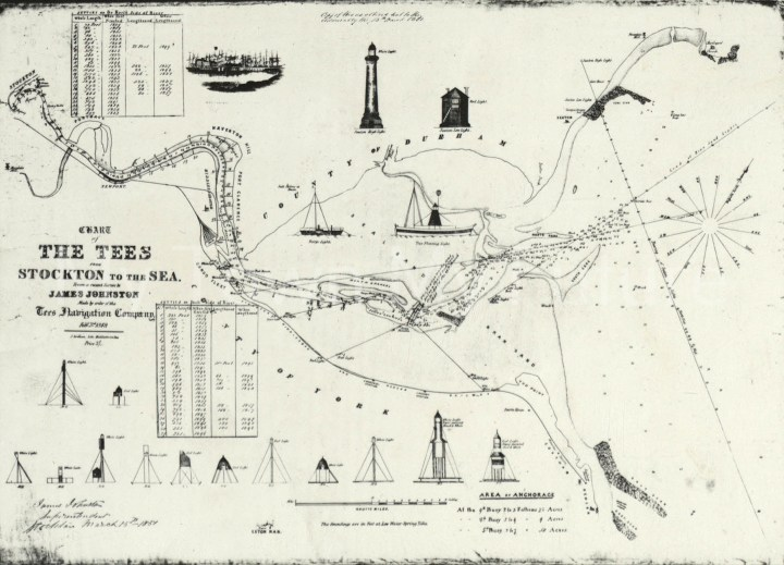 Chart Of River Tees From Stockton To Teesmouth