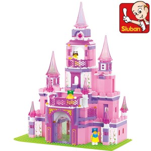 Sluban B0152 learning/education Princess series Castle Building <font><b>Block</b></font> Set Girls Bricks Gift legeod Bringuedos