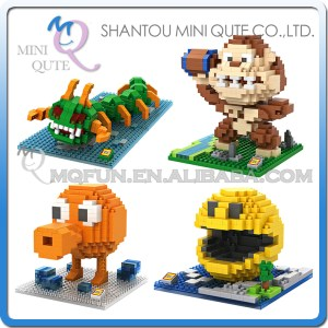 4pcs/lot Mini Qute LOZ Kawaii 4 style cartoon movie Pixels centipede plastic building <font><b>blocks</b></font> brick kid model educational toy