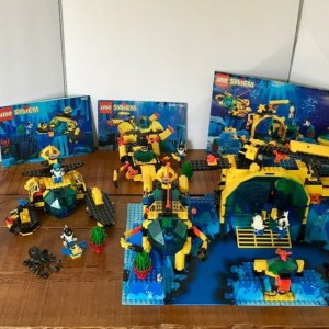 Lego 6195 6145 6155 1822  Aquanauts Neptune Discovery 100% Complete w manuals