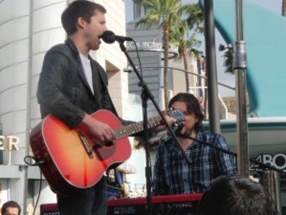 James Blunt in den Universal Studios Hollywood