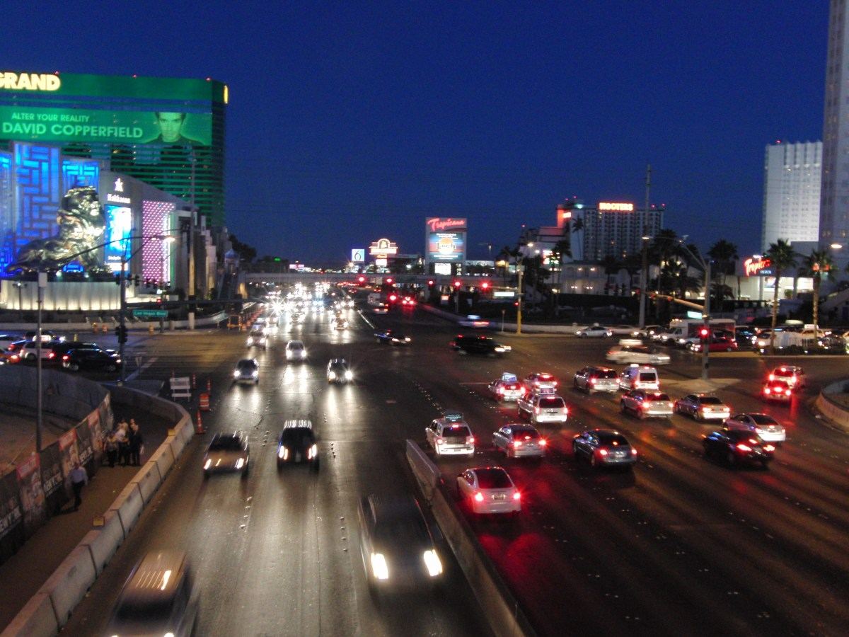 Der Las Vegas Strip bei Nacht