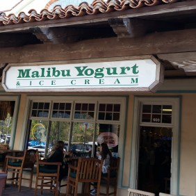 Malibu yogurt and ice cream