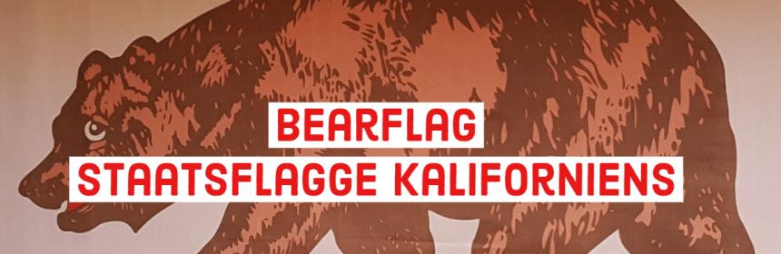 Bearflag offizielle Staatsflagge Kaliforniens