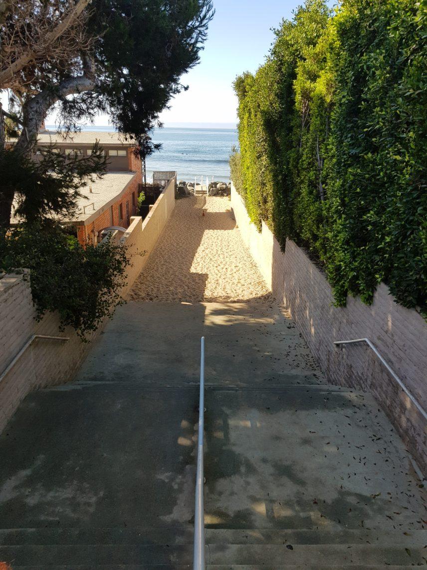 Weg zum Broad Beach