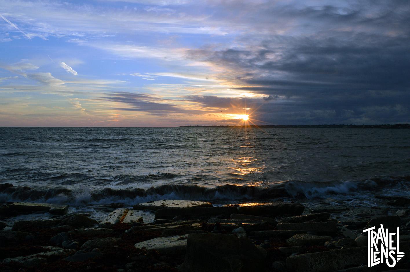 Sachuest Bay Sunburst Sunset