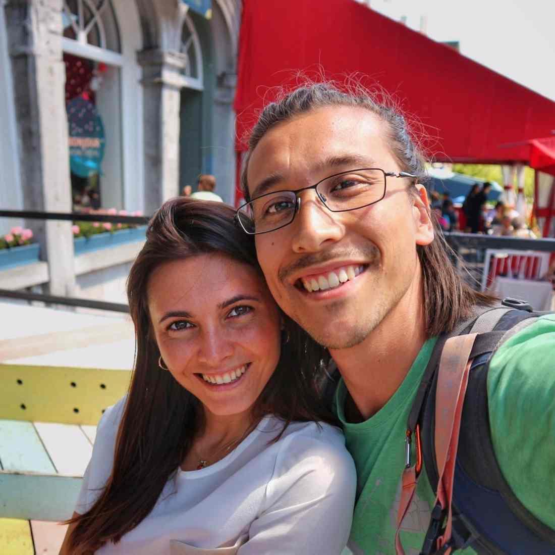 Giulia e suo marito in Canada