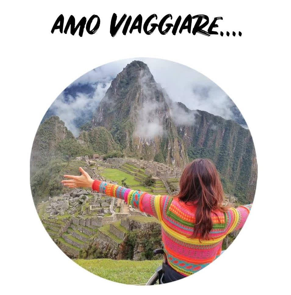 Giulia Lamarca in carrozzina a Machu Picchu