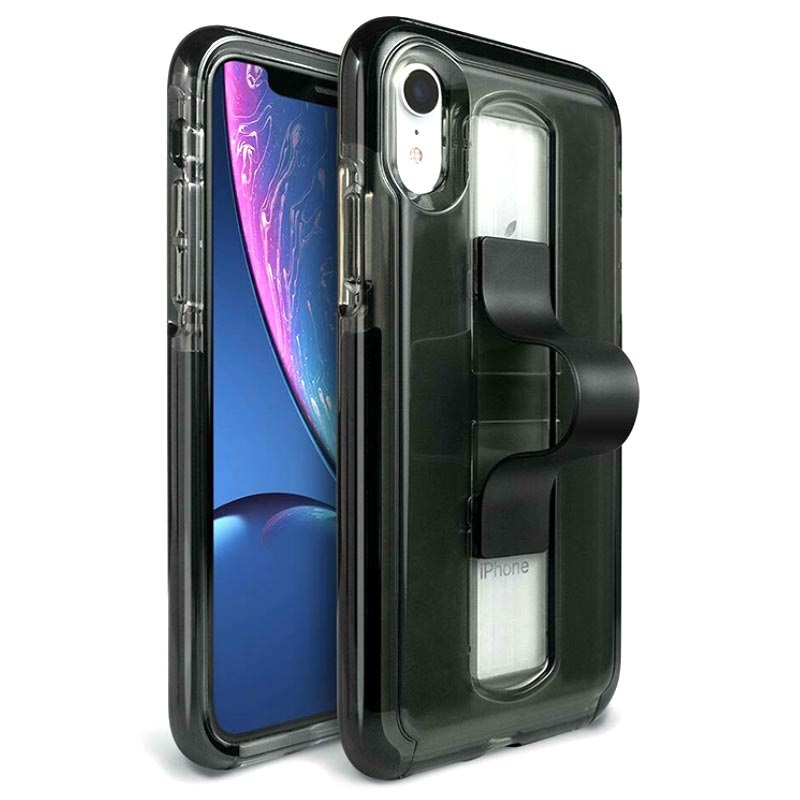 BodyGuardz SlideVue Unequal iPhone XR Case - Smoke / Black