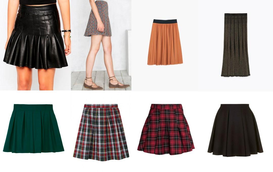Tendencias de temporada falda plisada tablas tiendas