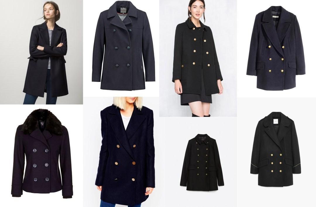 Tendencias de temporada abrigo marinero tiendas