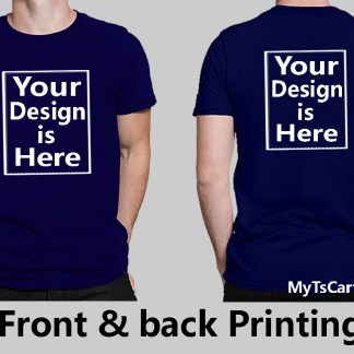 Front and Back printing custom t shirt
