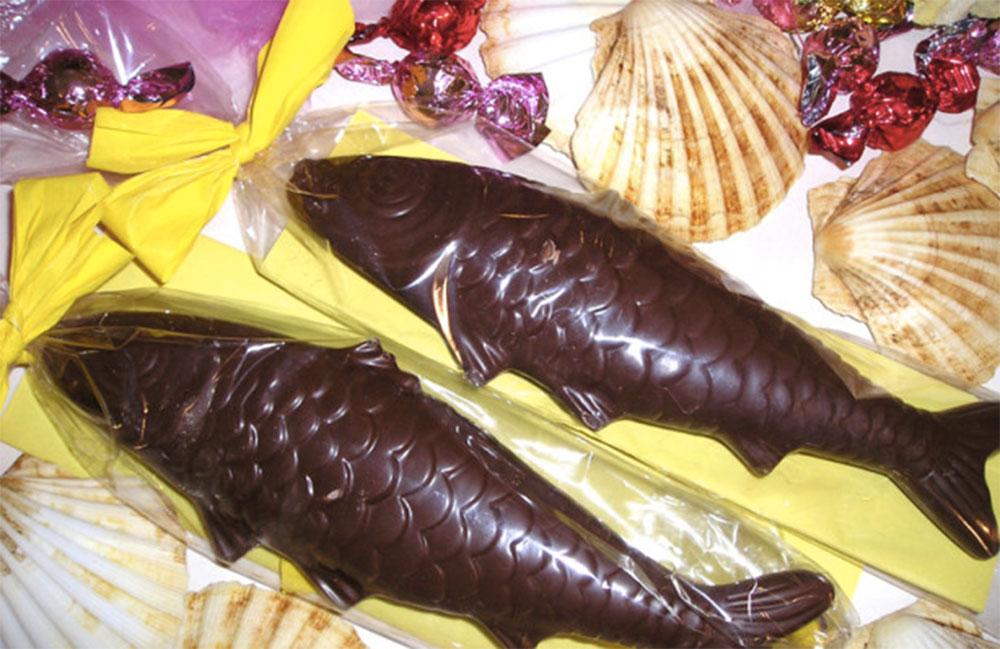 Pesci cioccolato