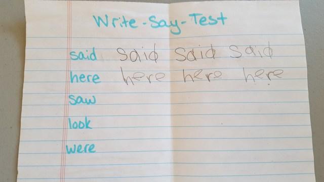 Write-Say-Test