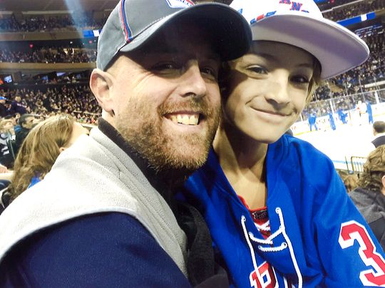 Jay Heverly and son