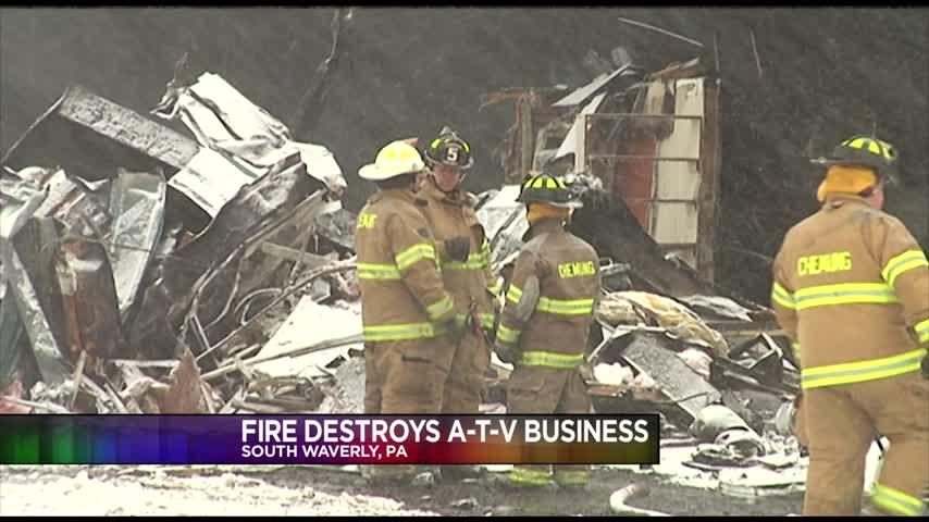 Fire Destroys South Waverly ATV Business_90130912