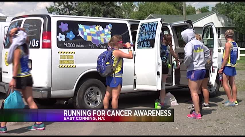 Runners running to spread cancer awareness_91301644