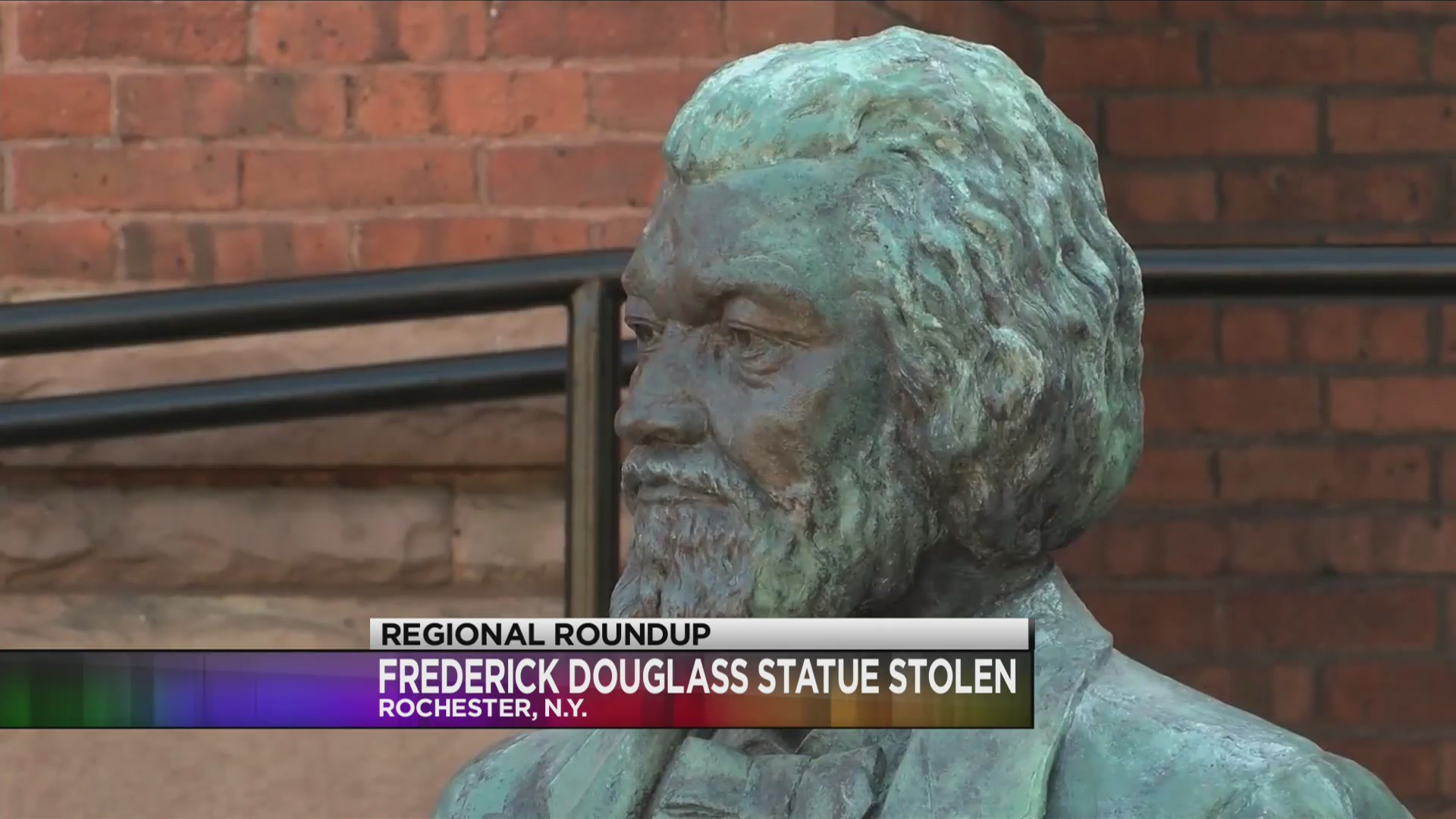 Two college students arrested for stealing Frederick Douglass statue