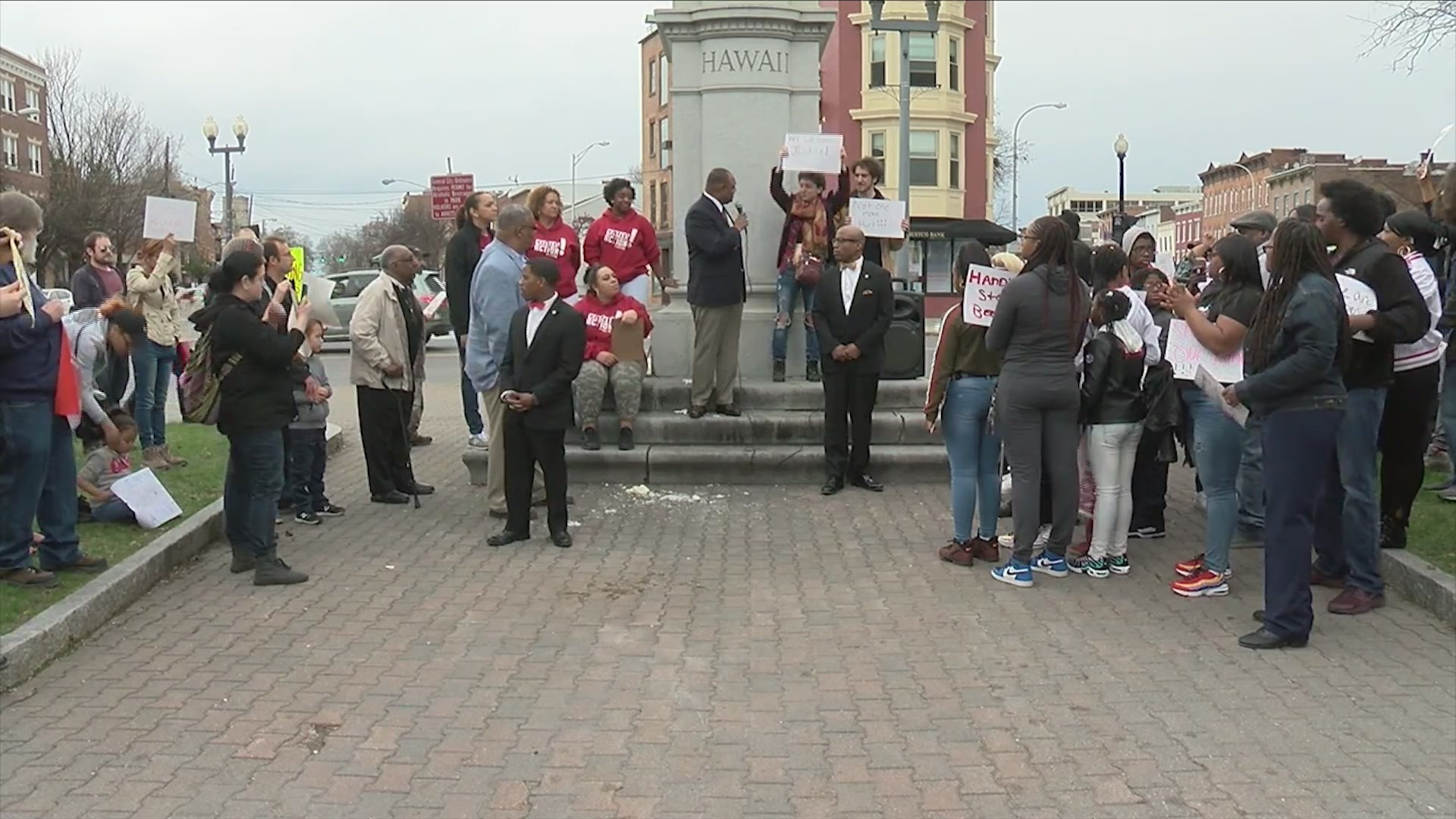 Albany residents gather to rally against police brutality