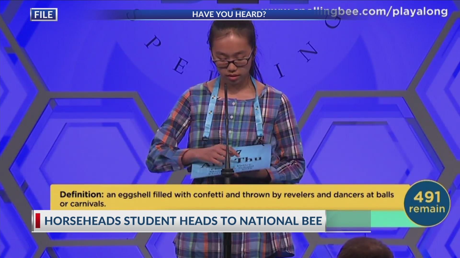 Student heads to Spelling Bee