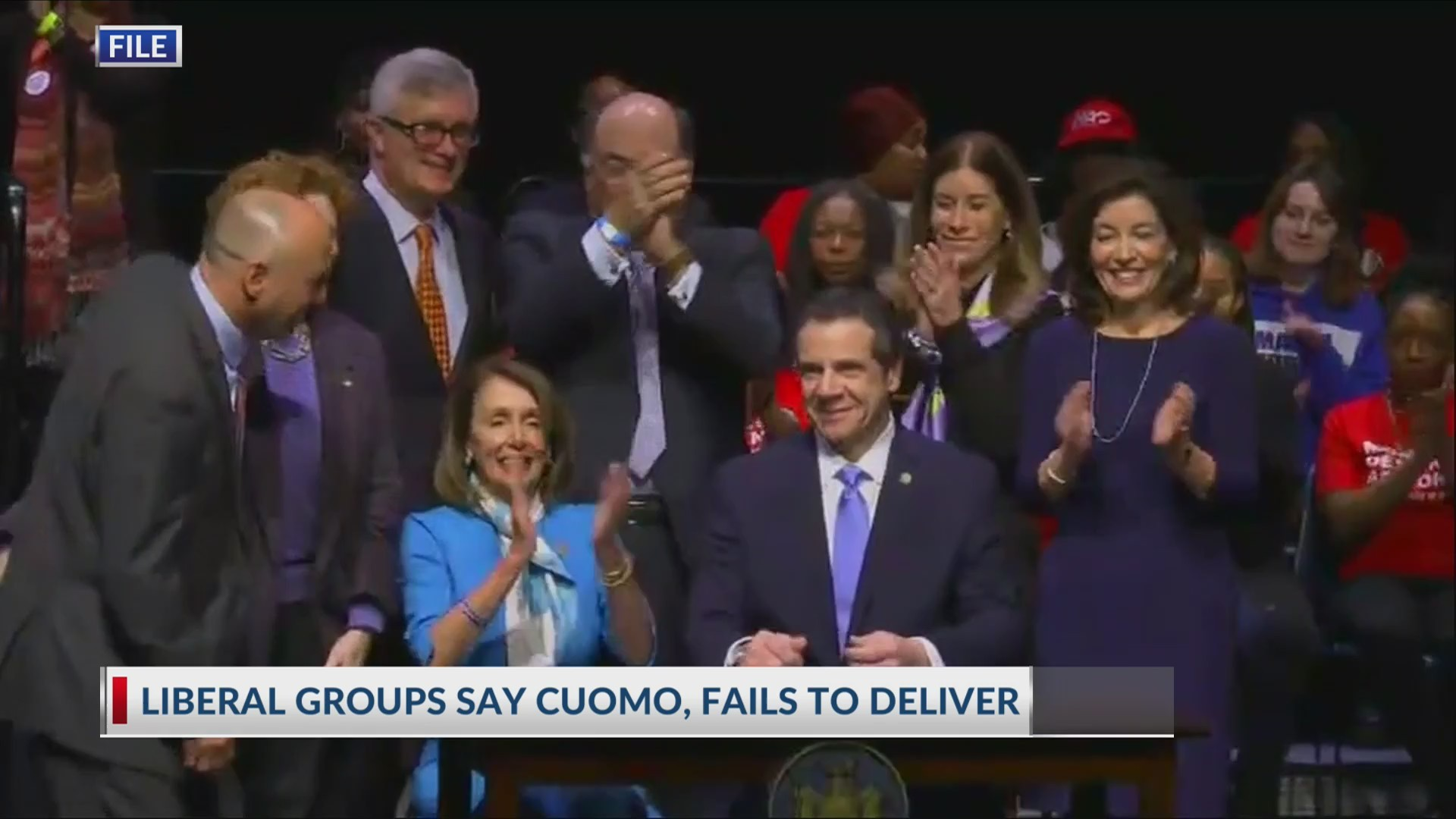 Liberal group says Cuomo fails to deliver