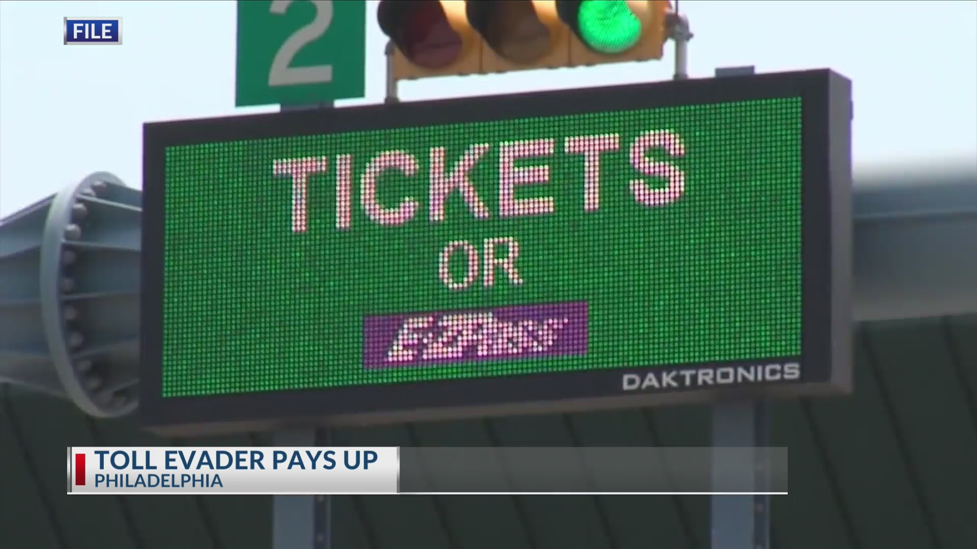 Toll evader pays up