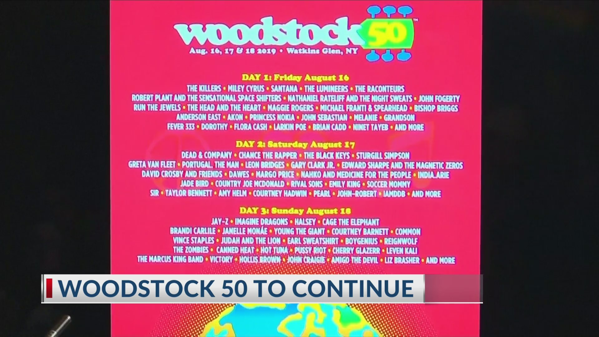 Woodstock 50: County gives update on festival plans