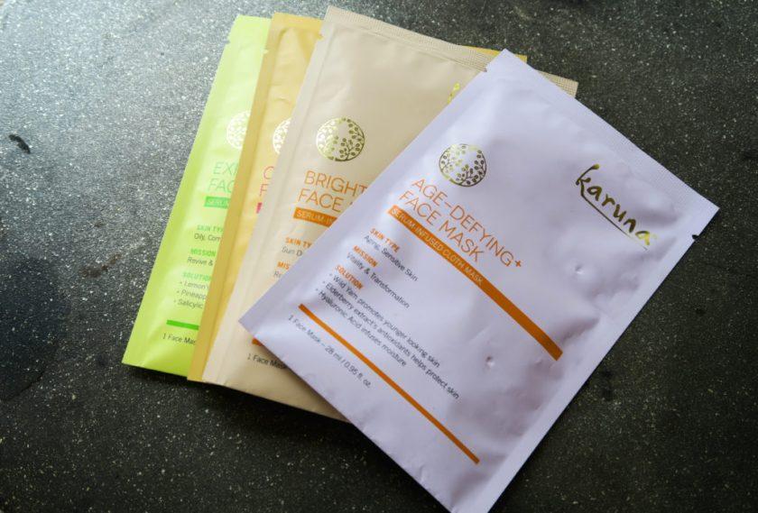 karuna sheet masks brightening age defying exfoliating