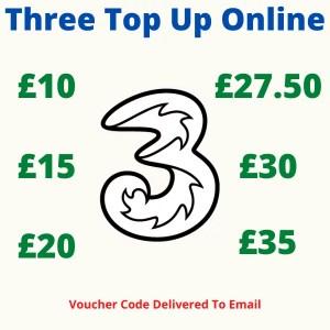 Three Top Up Online