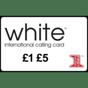 White international calling card