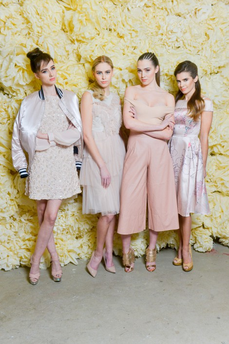 Pictured at the launch of West Coast Cooler FASHIONWEEK are models Lauryn, Sacha, Rebecca and Joanne in the latest looks from Topshop @ Victoria Square, Diamond Dolls and Chi Chi London.