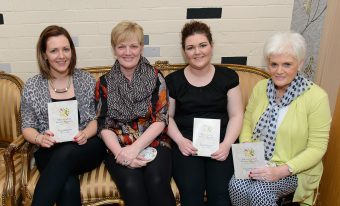 Hairdresser and nail technician Zoe Boyd with Cara Boyd, Vera Boyd and Isobel Johnston