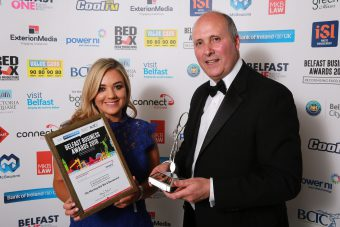 Best Green Business went to the Morning Star – pictured is Peta McAllister alongside