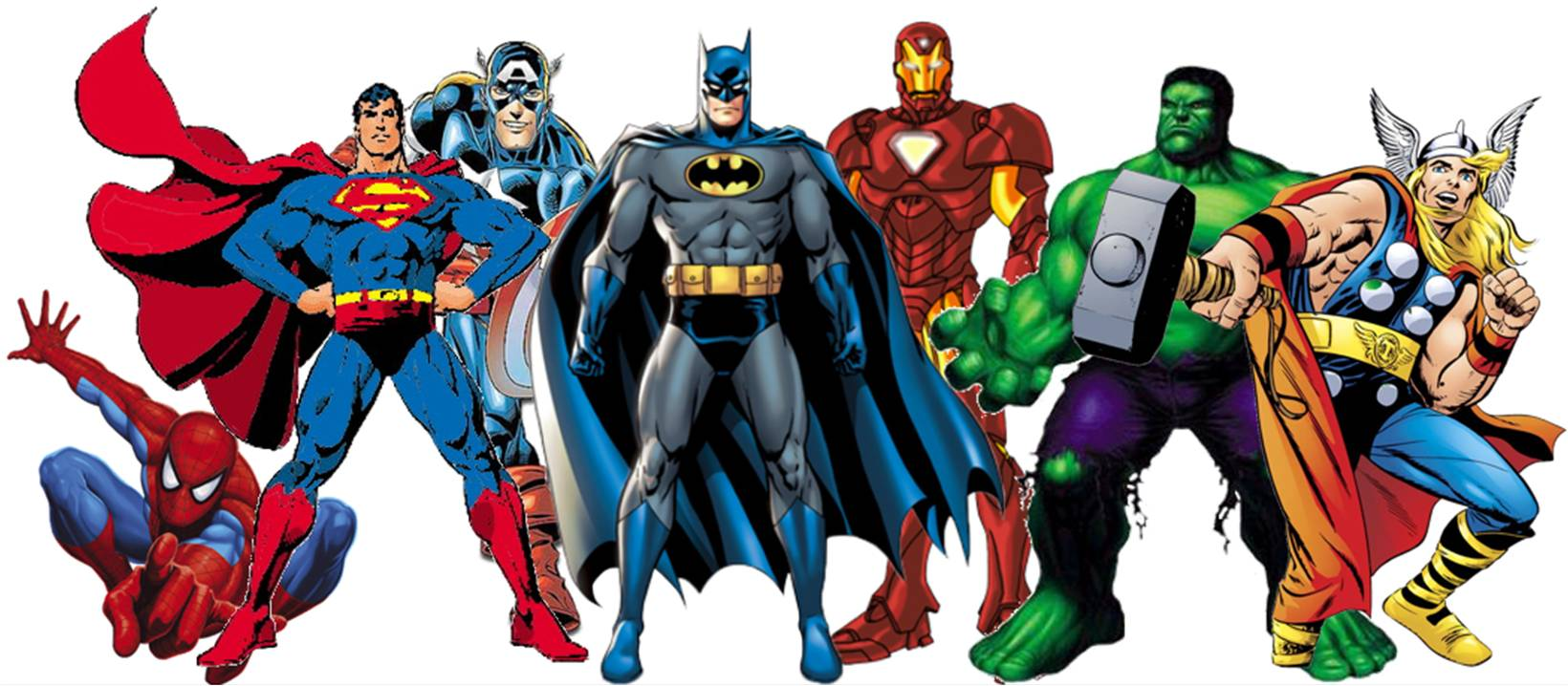 superheroes, iron man, marvel, avengers, batman, spiderman, thor